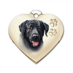 Heart Shape BLACK LAB Dog Tag or Necklace Jewelry or Pet Collar Tag 26588440 PAEC