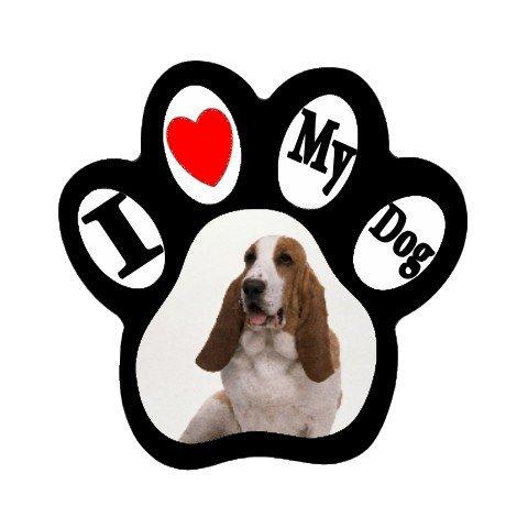 BASSET HOUND Dog Pet Lover Paw Print Magnet 27018392 PAEC