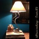 Wrought iron bedside bedroom lamp 60cm. Handmade iron lamp. Fabric lampshade