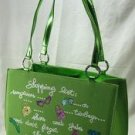 """Shopping list"" Handbag - Lime Color"