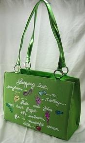 """""""Shopping list"""" Handbag - Lime Color"""
