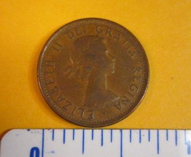 Canada 1962 1 Cent Copper One Canadian Penny ELIZABETH II #1