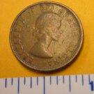 Canada 1962 1 Cent Copper One Canadian Penny ELIZABETH II #2