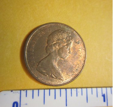 Canada 1971 1 Cent Copper One Canadian Penny ELIZABETH II #2