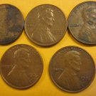 1976 Lincoln Memorial Penny 5 Pieces #1