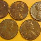 1976 Lincoln Memorial Penny 5 Pieces #2