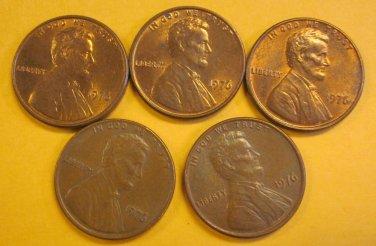 1976 Lincoln Memorial Penny 5 Pieces #8