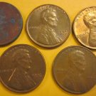 1976 Lincoln Memorial Penny 5 Pieces #13