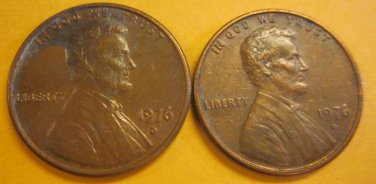 1976D Lincoln Memorial Penny 2 Pieces #2