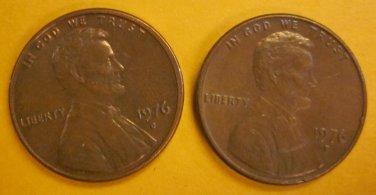 1976D Lincoln Memorial Penny 2 Pieces #3