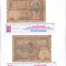 ALGERIA 1941 5 FRANCS BANK NOTE WW II ERA HEAVILY CIRCULATED