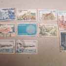 STAMPS FRANCE 196 PIECES CANCELED