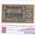 German Banknote MÜHLHAUSEN 1918 5 Mark Grossnotgeld German Notgeld