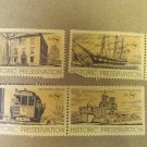 8 cent Historic Preservation Stamps 4 pieces Lot #3