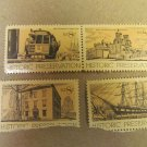 8 cent Historic Preservation Stamps 4 pieces Lot #4