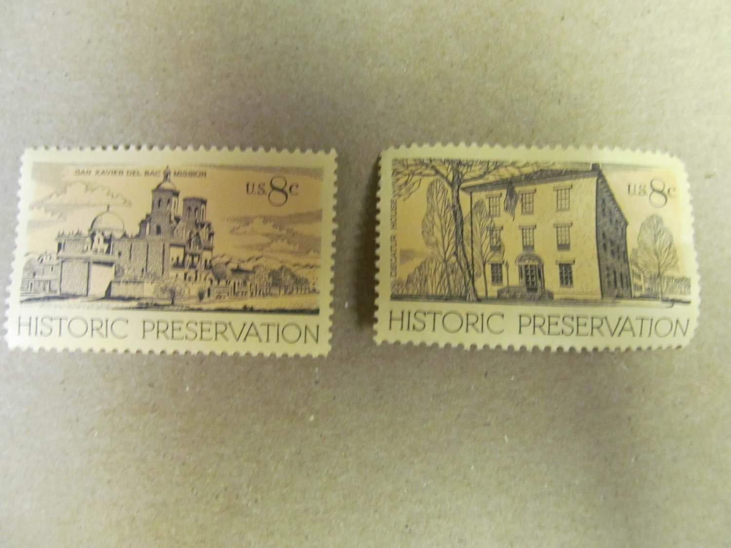 8 cent Historic Preservation Stamps 4 pieces Lot #5