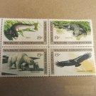 Wildlife Conservation 8 cent Stamps Block of 4 Scott# 1427-30 - 1971 Lot 1