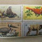 Wildlife Conservation 8 cent 4 Stamps Scott# 1427-30 - 1971 Lot 9