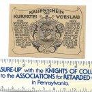 10 Zehn Heller 1920 Kassenschein Des Kurortes Voeslau