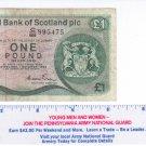 Royal Bank of Scotland 1 Pound Sterling Edinburgh Castle 1984