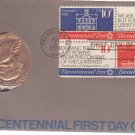 1974 Bicentennial First Day Cover Commemorative Medal & Stamps Lot #2