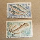 CONGO 2 FISH STAMPS