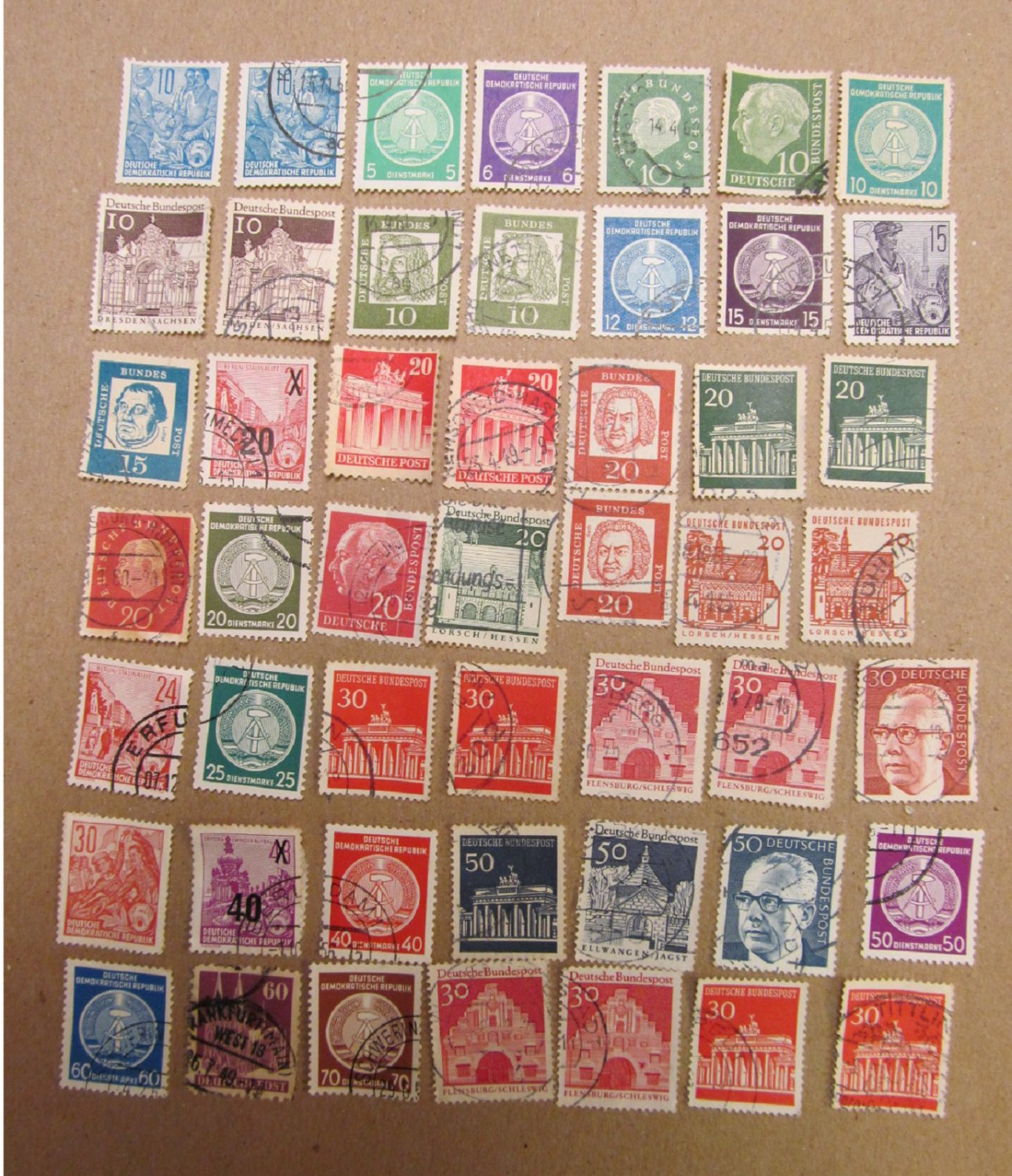 GERMANY COLLECTION OF OLD STAMPS 49 PIECES LOT 3