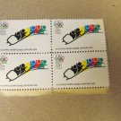 4 XI Olympic Winter Games Sapporo 1972 Bobsled US 8 Cent Postage Stamps