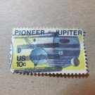 Pioneer 10 Passing Jupiter 10c stamp 1975 canceled