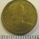 Australia 1984 1 Dollar Aluminum Bronze Coin Queen Elizabeth II Kangaroos