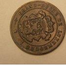 GRAND DUCHE DE LUXEMBOURG 2 1/2 CENTIMES 1870 W/DOT
