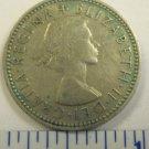 Elizabeth II Del Gratia Regina 1959 1 shilling