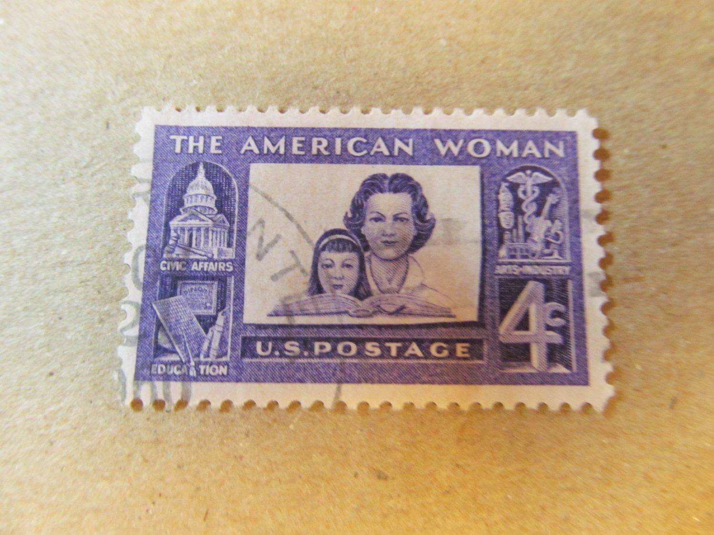 STAMP AMERICAN WOMAN 8 CENT SCOTT #1152 1960