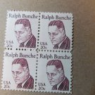STAMP US 1860 Great Americans Ralph Bunche 20 cent block 1982