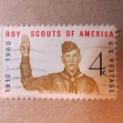 US Stamp BOY SCOUTS 4 CENT 1910-1960