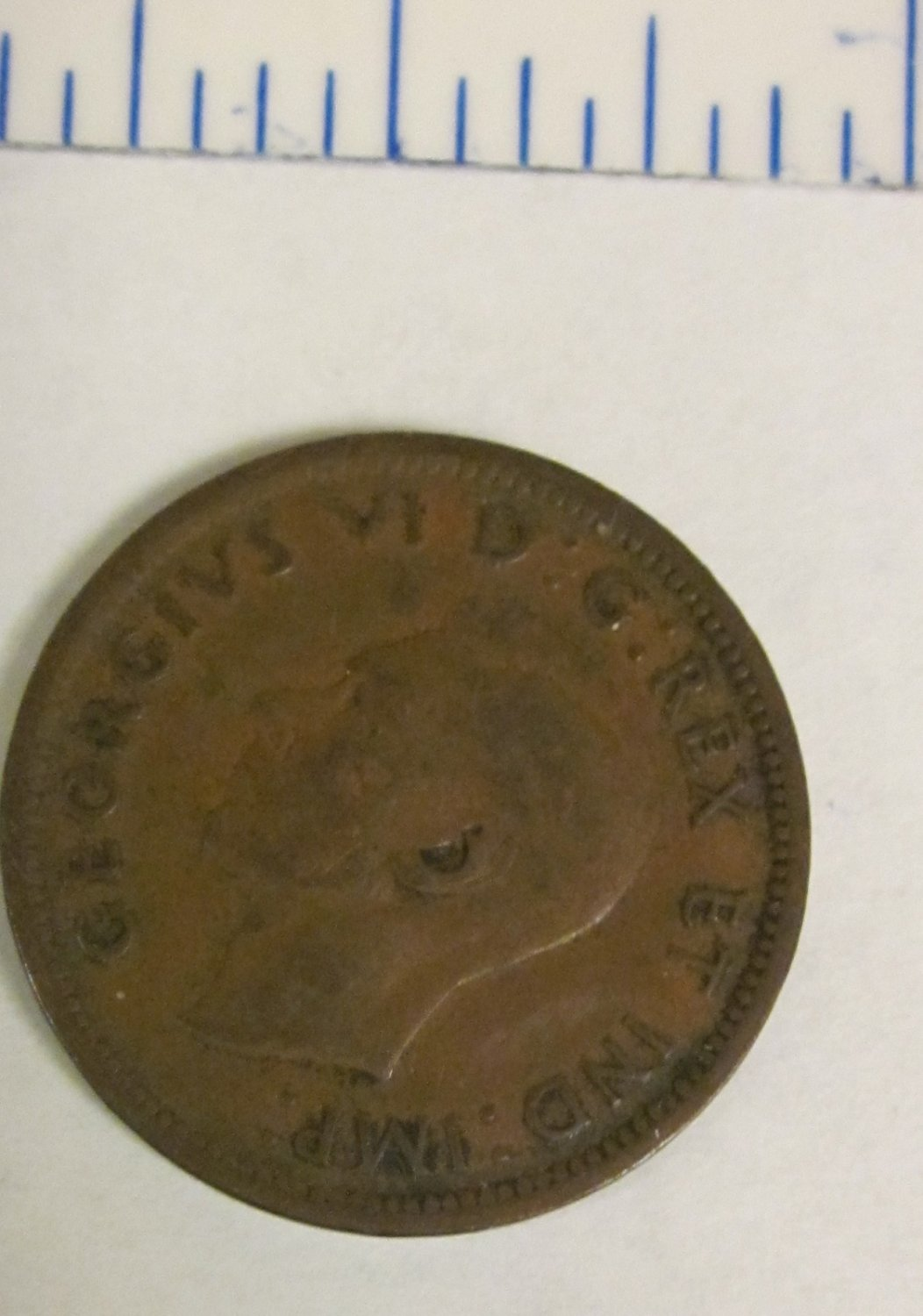1938 Canadian Small Cent - Canada Penny Copper Coin Old Rare Money