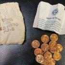 1973 PDS souvenir Mint Visit Penny Bag 5P 5D 5S US Mint 15 Coins Total Lot 1
