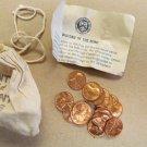 1973 PDS souvenir Mint Visit Penny Bag 5P 5D 5S US Mint 15 Coins Total Lot 5