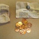 1973 PDS souvenir Mint Visit Penny Bag 5P 5D 5S US Mint 15 Coins Total Lot 7