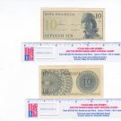 1 Bank of Indonesia Banknote 1964 Issue 10 Sen paper money #2
