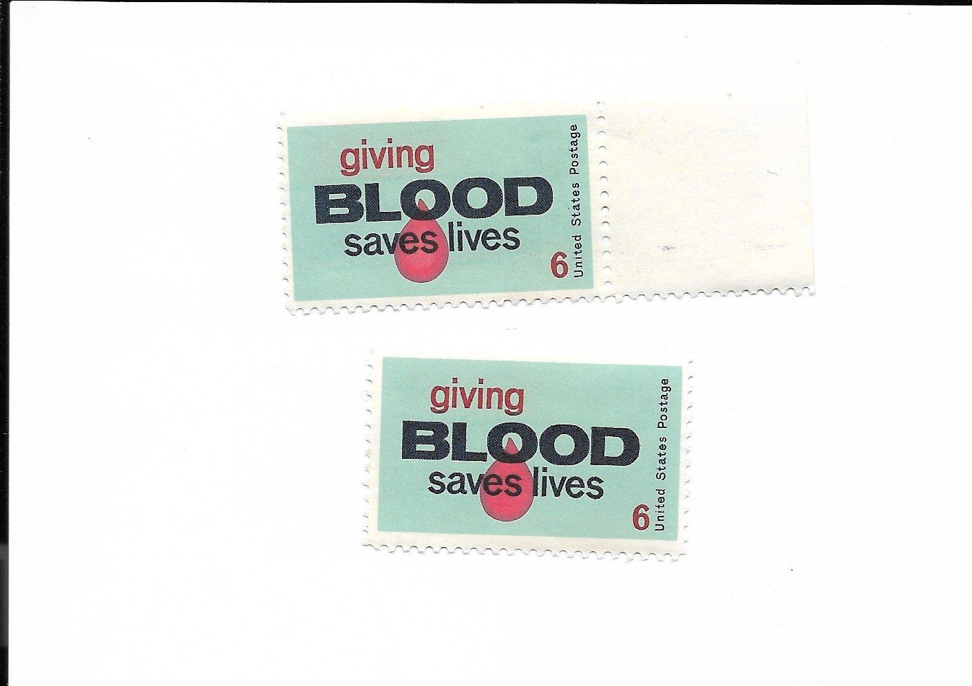 U.S. Stamps Scott #1425 6 cent GIVING BLOOD SAVES LIVES 1971