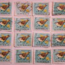 Yellow Tailed Thornbill 16 Stamps  1966 5 cent  Australian