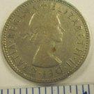 Elizabeth II Del Gratia Regina 1962 1 shilling