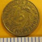 1936 5 pfennig DEUTSCHES REICH GERMANY WELMAR REPUBLIC