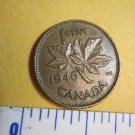 Canada 1946 1 Cent Copper Canadian Penny GEORGVIS VI D G REX ET IMP #1194