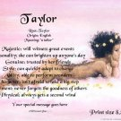 Angel Blessing #3  - PERSONALIZED 1 Name Meaning Print  - no US s/h fee