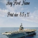 NAVY #1- PERSONALIZED 1 Name Meaning Print   - no US s/h fee