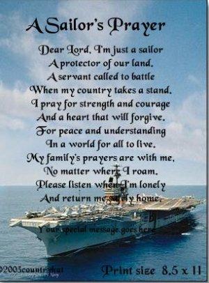 navy 1  sailor s prayer poem print   no us s h fee