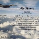 AIR FORCE #1- PERSONALIZED 1 Name Meaning Print   - no US s/h fee