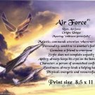 AIR FORCE #3- PERSONALIZED 1 Name Meaning Print   - no US s/h fee